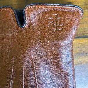 Ralph Lauren brown leather gloves